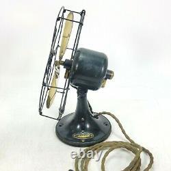 1920's Vintage Antique General Electric Whiz 9 Fan GE Brass Blade Works see Vid