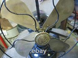 1920s GENERAL ELECTRIC GE WHIZ TABLE TOP 9 BRASS BLADE FAN EXCELLENT WORKS