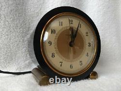 1930s Art Deco GE Model 7F72 Heralder Bakelite Clock -Works Great
