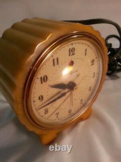 1930s General Electric Butterscotch Catalin Alarm Clock Nice Swirls