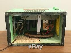 1940s Vintage Wooden Dr. Pepper Cooler Radio General Electric Restored Working