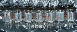 7 Pieces Match Set 12ax7 Ecc83 Tall Plate Nos Vintage General Electric Tubes USA