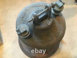 ANTIQUE GENERAL ELECTRIC GE NOVALUX Copper Electric Street Light Lamp Vintage