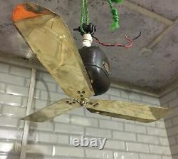 Antique General Electric Co Ltd London Ceiling Fan Volt 200 AC
