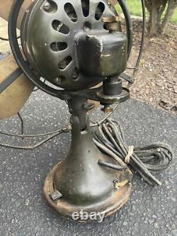 Antique General Electric Fan 16 2 Star Oscillating Fan -Works