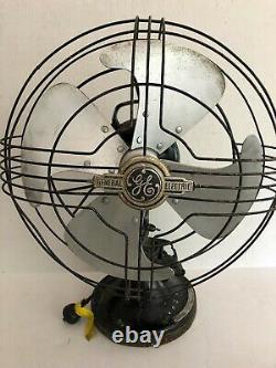 Antique General Electric Fan Tilt/Oscillating GE Art Deco Fan