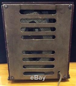 Antique Wood GE Vintage Tube Radio, Unrestored, Working, Art Deco Tombstone R