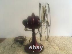 Antique vintage GE General Electric early 1920s continuous oscillating fan