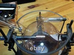 Beautiful Antique X-ray Tube and Holder vintage laboratory mad scientist prop