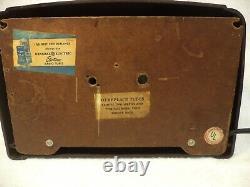 Classic Vintage Bakelite GE AM Tube Radio Model 107-RESTORED
