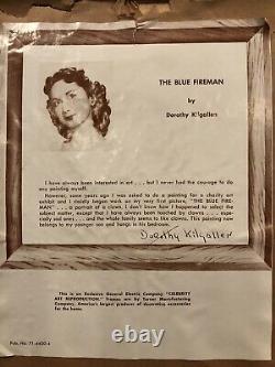 Dorothy Kilgallen Generalelectric Vntg Celebrity Art Print The Blue Fireman