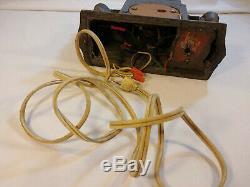 FDR Metal CLOCK Lamp Roosevelt Spirit of USA General Electric Telechron Vintage