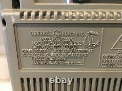 General Electric 3-5259A MLS3 Vintage Stereo Boombox AM/FM CASSETTE with meters