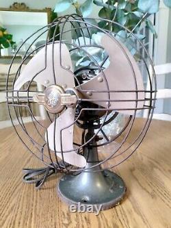 General Electric 9 Vortalex Oscillating Fan #FM9V1 Circa 1946-1948 Works Great