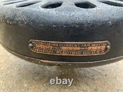 General Electric Cast Iron Ceiling Fan Vtg