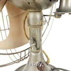 General Electric GE Fan Vintage Industrial Art Deco Electric 3 Speed Oscillating