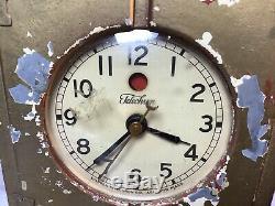 General Electric GE Telechron Electric Refrigerator Clock Vintage, Working! READ