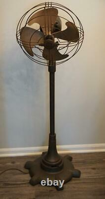 General Electric GE Vortalex Floor Fan Model FM12M11 Vintage Antique