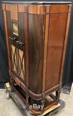 General Electric M-106 ART DECO 1935 Vintage Vacuum Tube Console Radio-C@@L