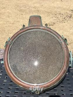 General Electric Novalux Projector Copper Floodlight Spotlight Vintage Working
