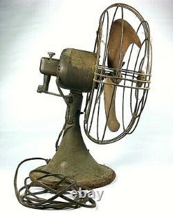 General Electric Oscillating Fan 1930's Art Deco Vortalex blade, 10 inch-2 SPEED