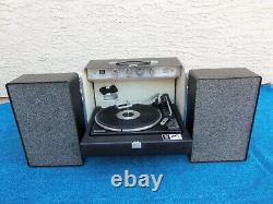 General Electric Trimline 500 Stereo, Vintage Portable Record Player, 1970's