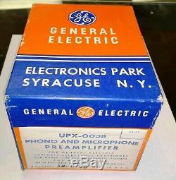 General Electric UPX-003B Vintage Tube Phono Preamp in original box