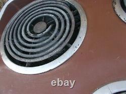 General Electric Vintage Brown Cooktop Cook Top Stove Range 4 Burner Unknown Con