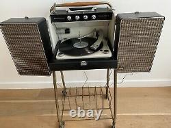MidCentury Vintage General Electric Stereo Trimline Record Player with Stand WORKS