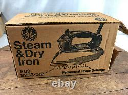 NOS Vtg GE General Electric Steam & Dry Clothes Iron F63 New