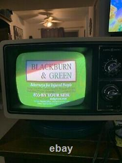 Nice Vintage General Electric 10'' Portable Color Television Tvgaming Working