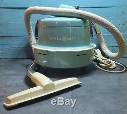 RARE Vintage General Electric V11C188 Canister Vacuum Cleaner withHose