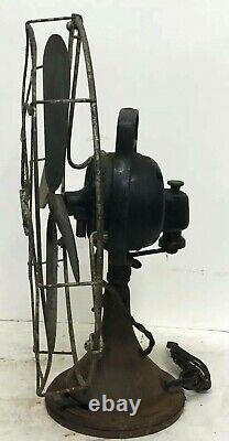 Rare Antique General Electric Ge Type Aou 16 4 Blade Oscillating Desk Fan Works
