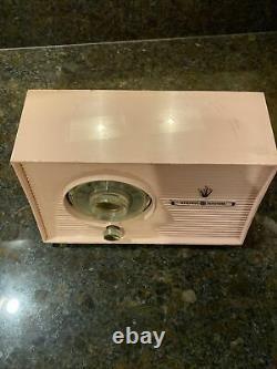 Rare Vintage Pink GE Model 877 Radio Fully Working General Electric