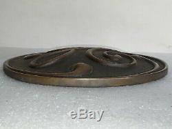 Rare large 12 heavy brass General Electric GE Sign Emblem Logo Vintage 1920's