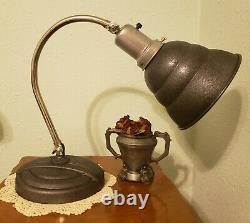 Restored Vintage General Electric Industrial Infrared Articulating Table Lamp