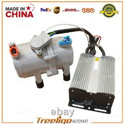 Universal 4 Hole Underdash A/C Electric Air Conditioning Compressor Auto 12V