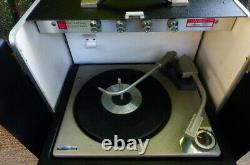 VINTAGE GE GENERAL ELECTRIC 400 PORTABLE RECORD PLAYER WithSPEAKERS