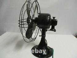 VINTAGE GE General Electric Oscillating 2 speed Fan working new cord