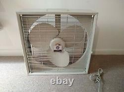 VINTAGE GENERAL ELECTRIC BOX FAN 3 SPEED 20 REVERSIBLE withInstructions W-13