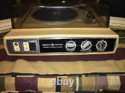 VINTAGE General Electric TURNTABLE STEREO Sound System Tested