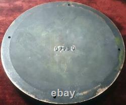 VINTAGE ORIGINAL 12 SOLID BRASS 1940s GENERAL ELECTRIC GE EMBLEM TURBINE PLATE