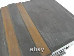 VTG General Electric K-53-M Art Deco Tube Radio Wooden Knobs Cabinet Cloth Cord