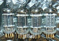 Very Rare Quad Highest Quality Nos 5687 Tubes Vintage General Electric 5687wa