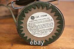 Vintage 1930's General Electric Fan 8 Blades GE Green Original EXCELLENT