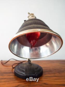 Vintage 1930s Art Deco Desk Lamp Machine Era Decor General Electric Lighting