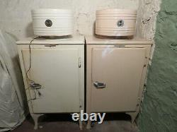 Vintage 1930s GE Monitor Top Refrigerator General Electric Larger Size Runs Well