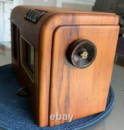 Vintage 1939 GE GD-620 Wooden AM 6-Tube Tabletop Radio With Presets