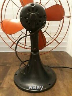 Vintage 1940's General Electric Oscillating Fan Working Order