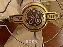 Vintage 1940s General Electric FM12V1 Large Industrial Oscillating Vortalex Fan